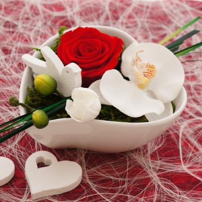 Tischdeko Hochzeit Rot Weiss Klassisch Mit Rosen Prapariert