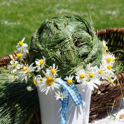 Landhausdeko Sommer Blumenstrausse Selber Binden In Blau Wei