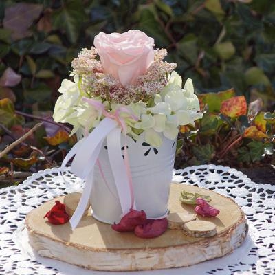 Tischdeko Kerzenring Aus Hortensien Bastelspass24 De Floristik