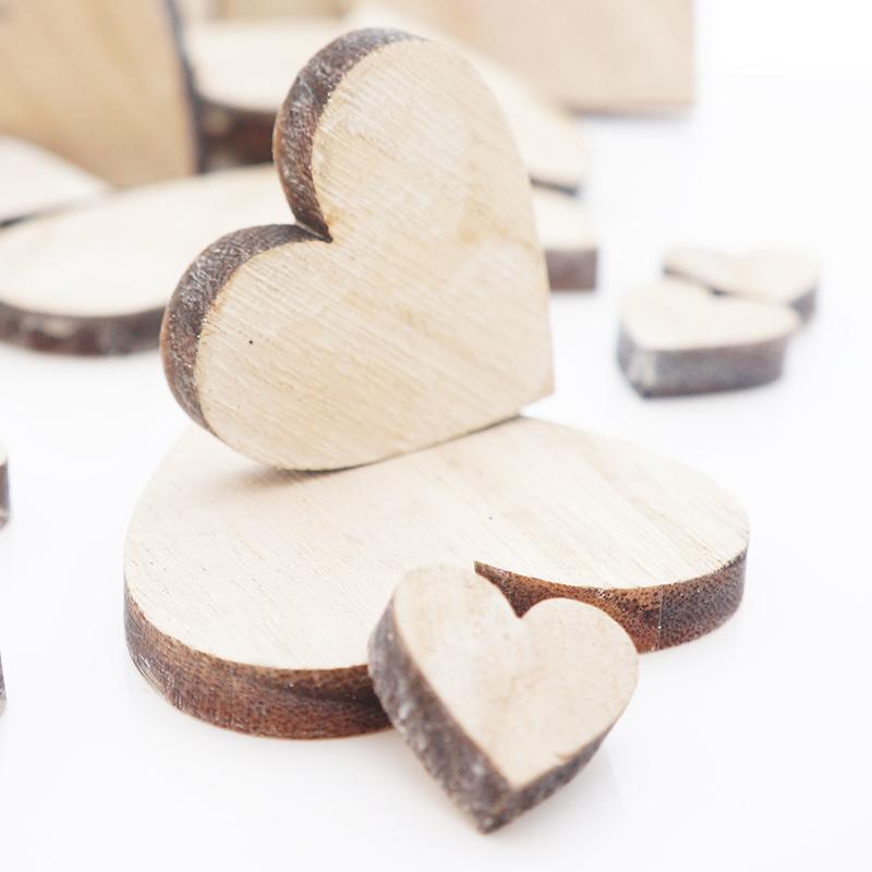 Deko Zuschnitte Größenauswahl Bronzene Holz Herzen