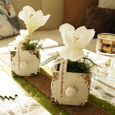Tischdeko weihnachten vintage selber machen - Tischdeko aus holz ...