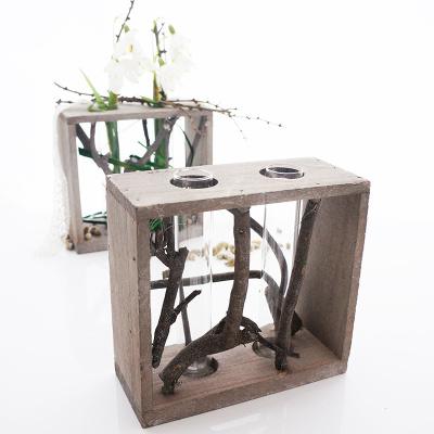 Reagenzglashalter aus holz floristik basteln bastelanleitungen und - Tischdeko aus holz ...