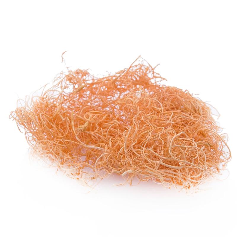 curly moos moosartikel zum basteln apricot hellorange ve ca 100g ba. Black Bedroom Furniture Sets. Home Design Ideas