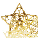 Sterne Ornament | Metall in gold VE 4 Stk Gr 6 cm