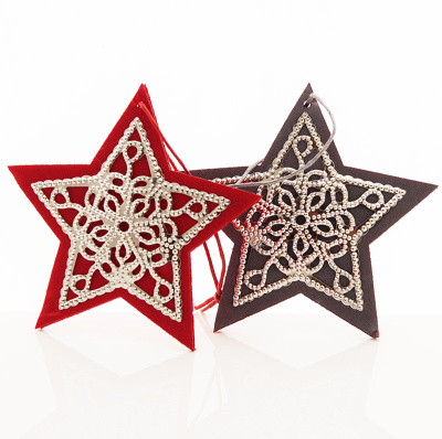 Sterne Mit Ornament Christbaumschmuck Bastelspass24 De