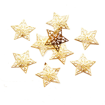 Sterne Ornament | Metall in gold VE 8Stk Gr 3,5 cm