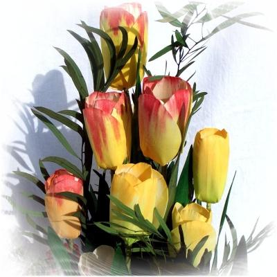 5 tulpen aus holz zum bemalen! nur 1 euro! feine holztulpen zum bast,