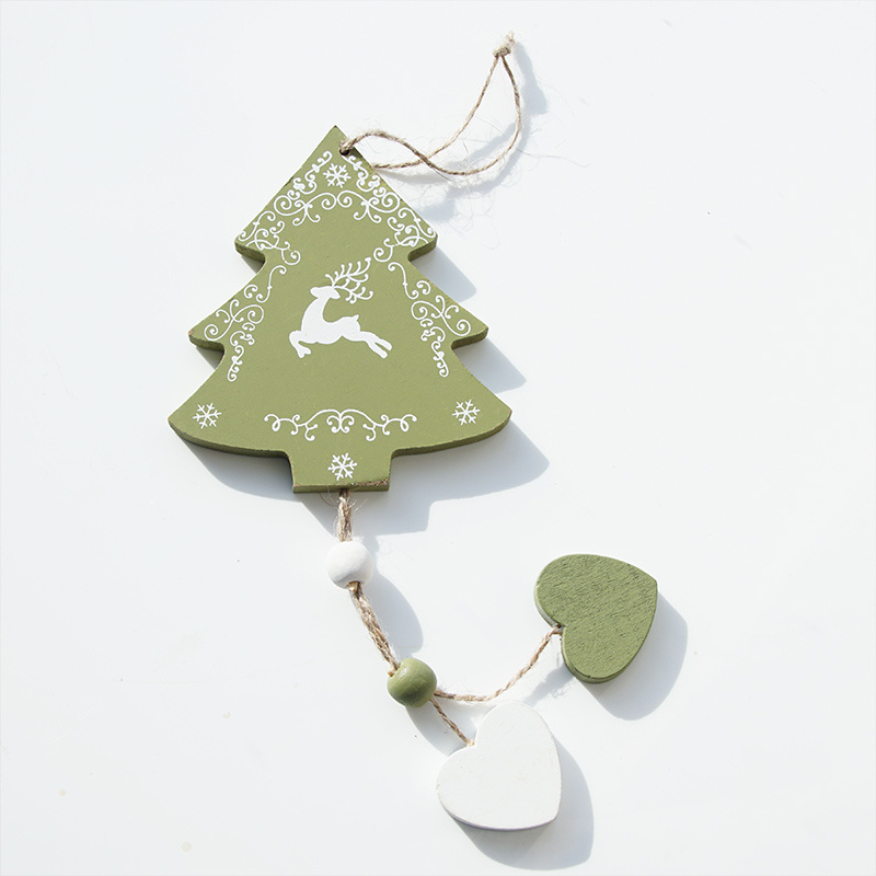 Weihnachtsdeko holz baum zum h ngen gr l 25 cm b 10 cm gr n for Weihnachtsdeko baum