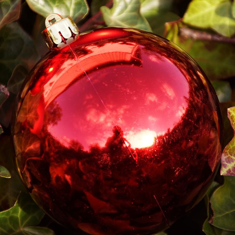 weihnachtskugeln kunststoff 10 cm rot floristik basteln. Black Bedroom Furniture Sets. Home Design Ideas