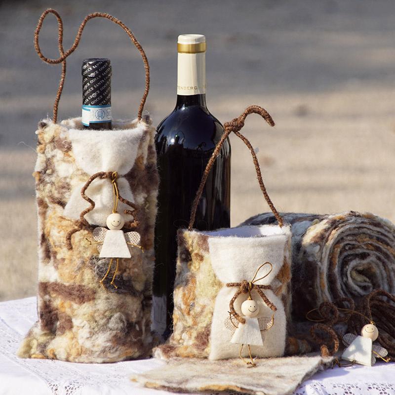 filz geschenktaschen selber basteln ausgefallen floristik basteln. Black Bedroom Furniture Sets. Home Design Ideas