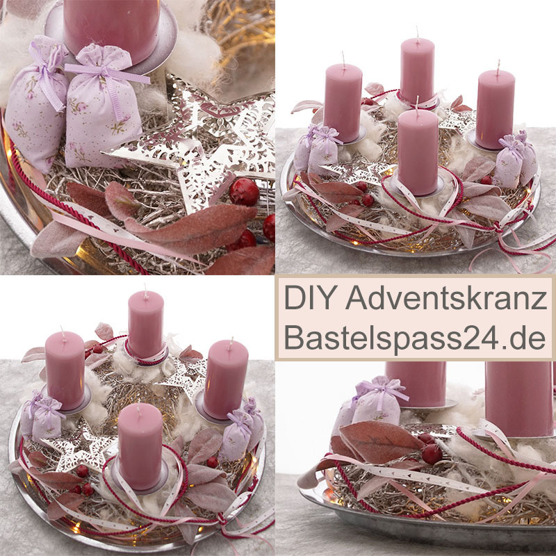 diy adventskranz vintage f r advent floristik basteln bastelanleitungen. Black Bedroom Furniture Sets. Home Design Ideas