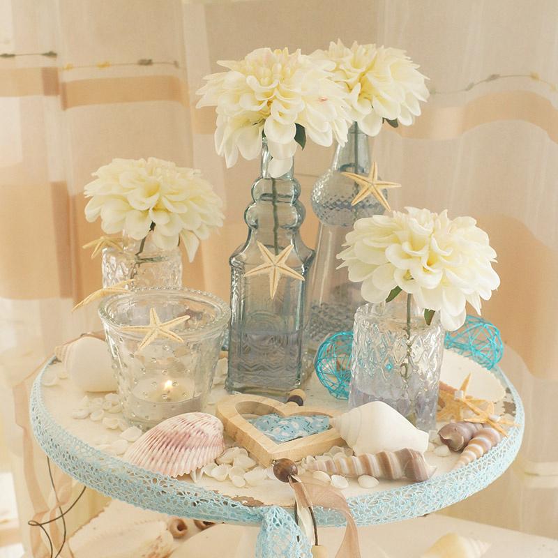 tischdeko hochzeit sommer runde tische floristik basteln. Black Bedroom Furniture Sets. Home Design Ideas