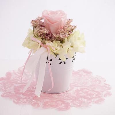 tischdeko rosa wei f r hochzeit feste floristik basteln. Black Bedroom Furniture Sets. Home Design Ideas