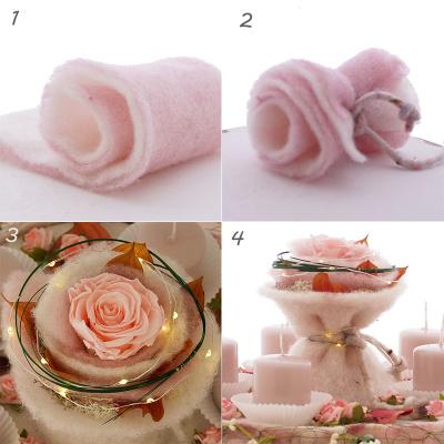 tischdeko zum tr umen in rosa wei flieder fl. Black Bedroom Furniture Sets. Home Design Ideas