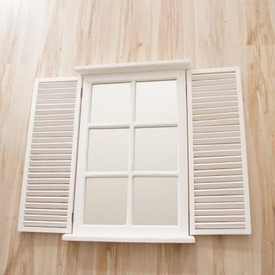 Deko Fenster mit Fensterläden | Vintage Kleinmöbel - Bastelspass24.de