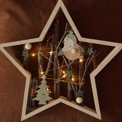 Deko Zweige Mit Beleuchtung | Stern Mit Led Fensterdeko Turschmuck Bastelspass24 De