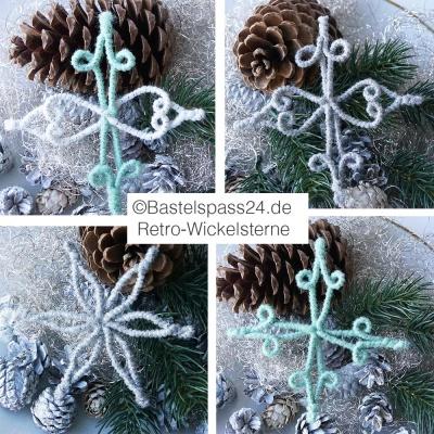 Sterne Basteln Retro Wickelsterne Christbaumschmuck