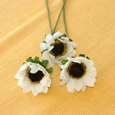 Deko Blumen Zum Basteln Kaufen Smart Softblumen Zum Bemalen Margerite Creme Weiß Ve 3 Stück