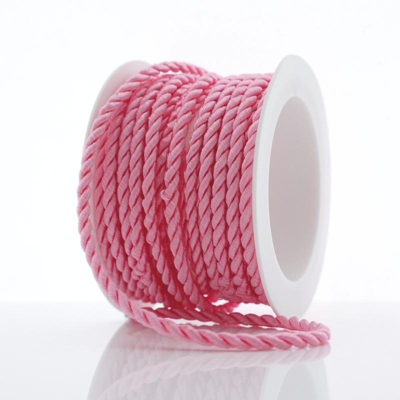 kordel kordeln drehkordel rosa 3mm 4 m spule zum basteln und dekorier. Black Bedroom Furniture Sets. Home Design Ideas