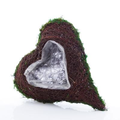 pflanzherz aus moos 36 cm floristik basteln bastelanleitungen und. Black Bedroom Furniture Sets. Home Design Ideas