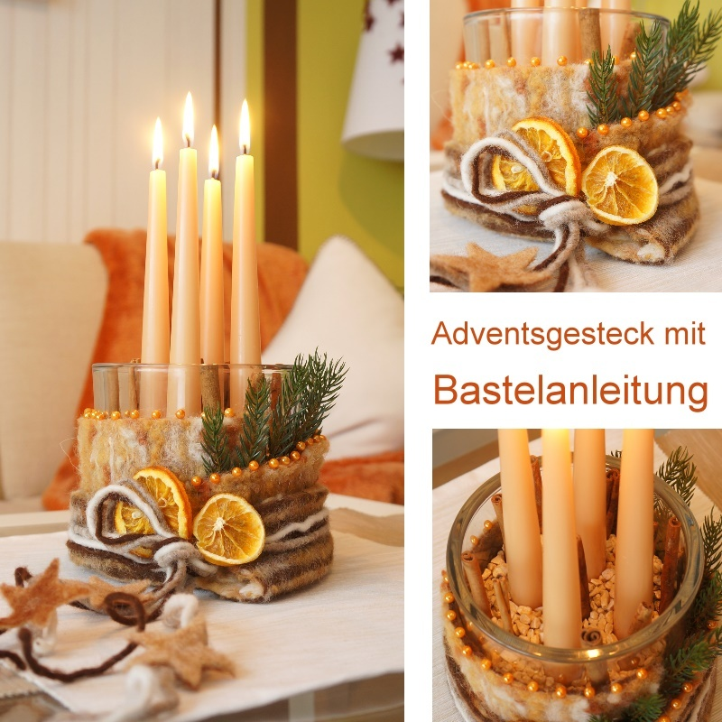 stabkerzen f r hochzeit und adventsfloristik farbe apricot. Black Bedroom Furniture Sets. Home Design Ideas