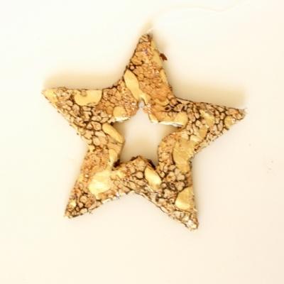 Weihnachtsdeko Gold.Flechten Stern Mit Glitter In Gold 10 Cm Ausgefallene Weihnachtsdekoration Mit Veredeltem Naturmaterial