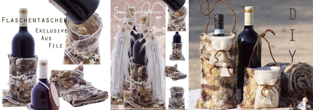 Geschenktaschen aus Filz selber machen Wollba