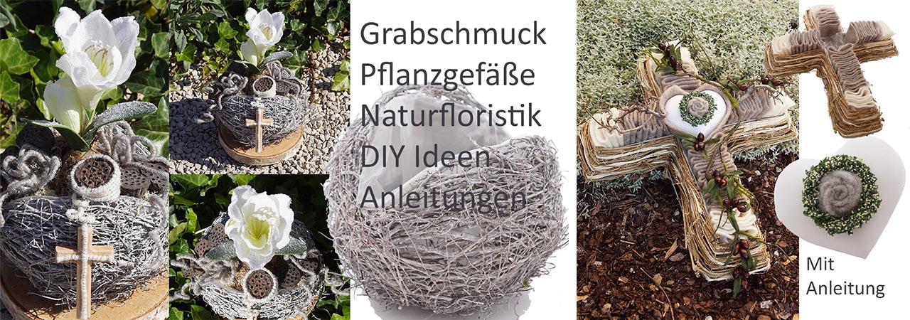 DIY Grabgestecke selber machen Grabschmuck fü