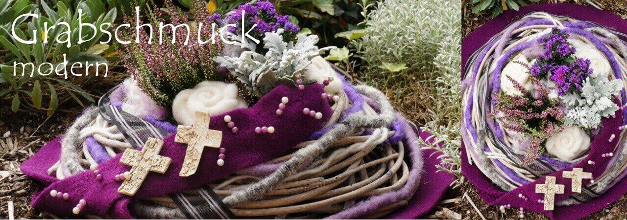 Grabschuck-Pflanzschale-mit Wollband-und-Woll