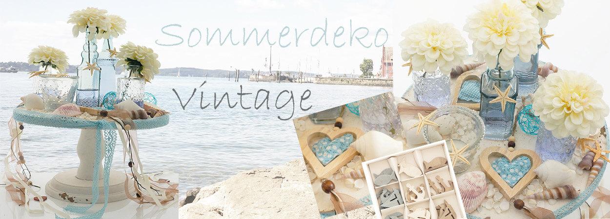 Sommerdeko Vintage für runde Tische Hochzeit