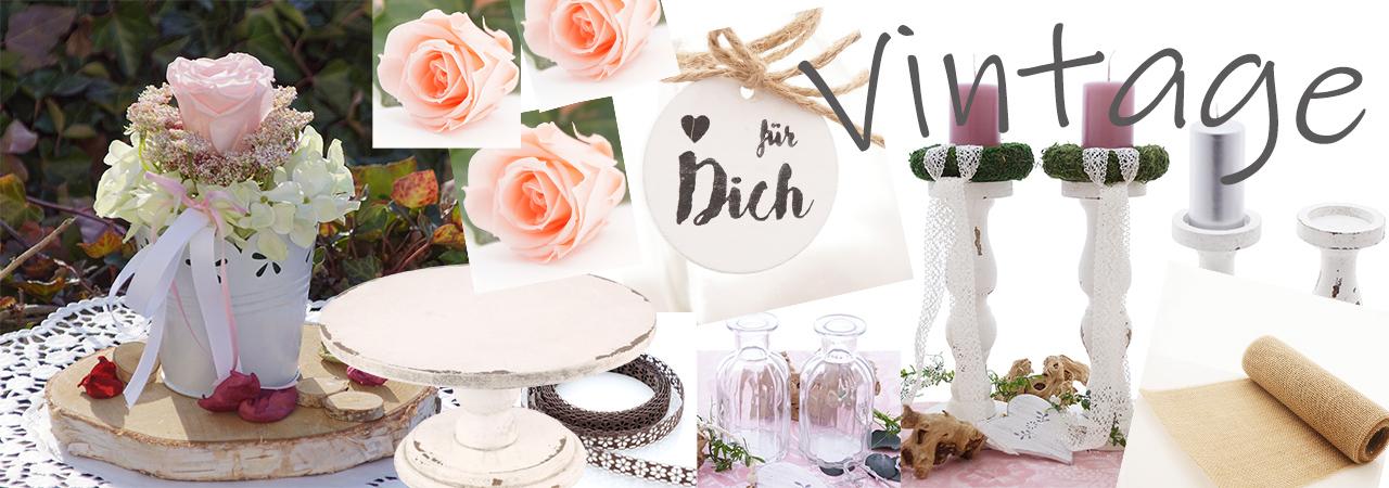 Vintage Deko Hochzeit, Tischdeko für Hochzeit