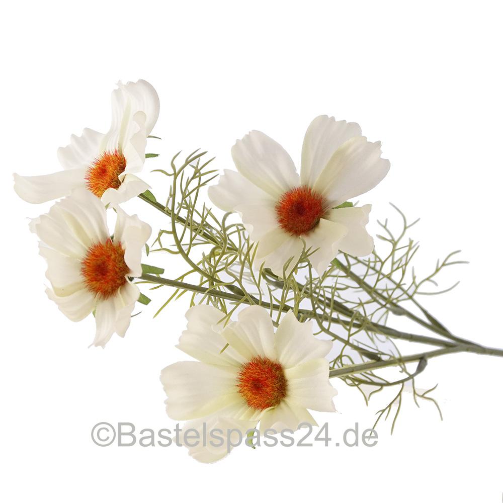Deko 12 x Tulpen weiß Seidenblumen Kunstblumen Tulpe Stiel künstlich wie echt