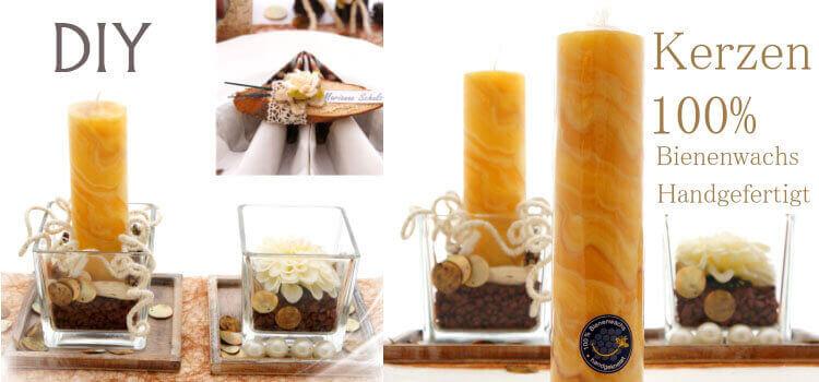 Kerzen für Tischdeko