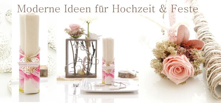 Tischdeko Hochzeit selber machen Vintage, Landhausstil, mit Holz, mit Glas