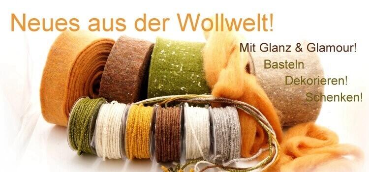 Wollbänder Wollkordeln Wollschnüre Filzband Filzkordeln