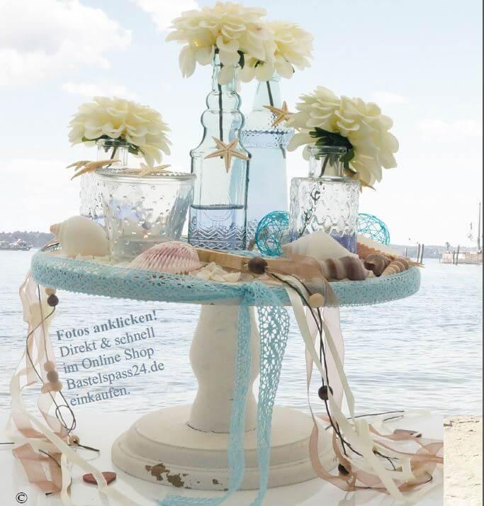 Vintage Tischdeko für Hochzeit im Sommer selber machen