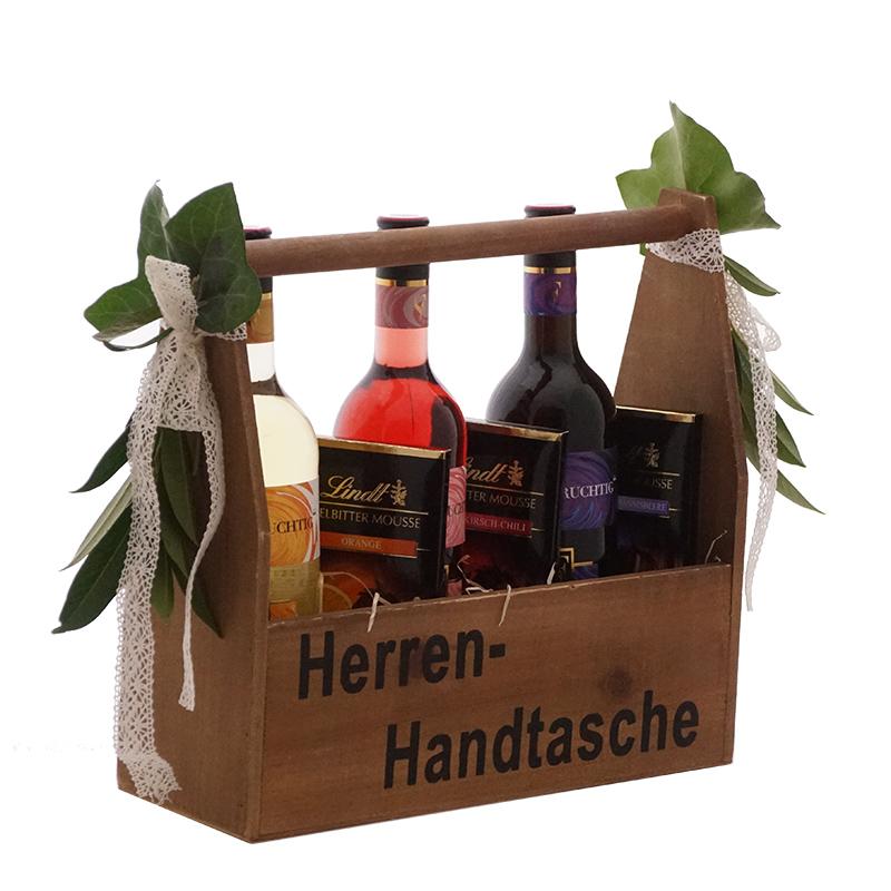 Geschenkidee Weihnachten für Männer | Holzkiste für Wein sehr ausgefallen